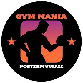 Retro Gym Fitness Instagram Profile Logo template