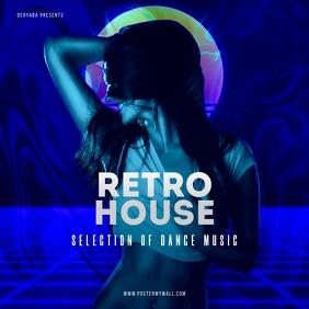 Retro House CD Cover Art Template
