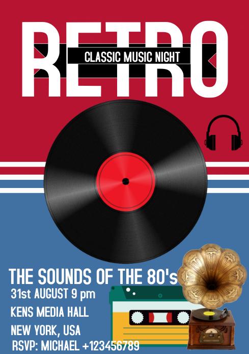 REtro Music festival concert poster