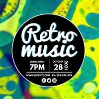 Retro Music Video Poster template