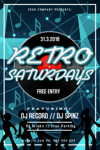 Retro Night Club Event Poster
