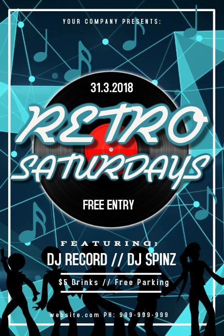 Retro Night Club Event Poster