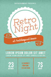 Retro Night Flyer Design Template