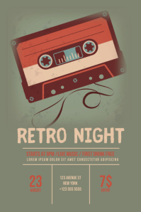 Retro Night Flyer Template