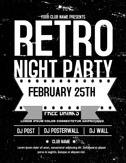 Retro Nights Flyer Template