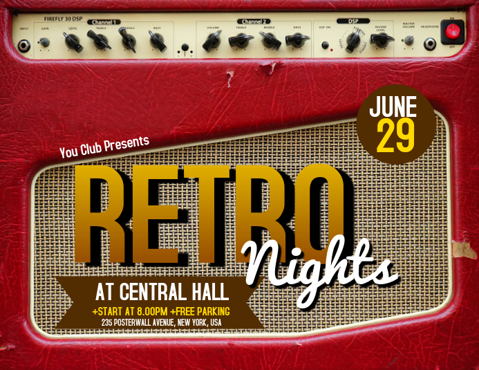 Retro Nights Flyer Templates Folder (US Letter)