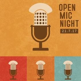 Retro Open night Template