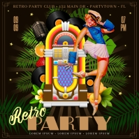 RETRO PARTY BANNER Instagram na Post template
