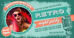 RETRO PARTY BANNER Facebook Shared Image template