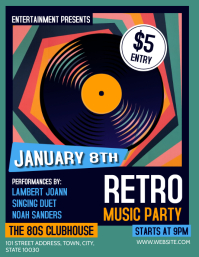 Retro Party Flyer (US Letter) template