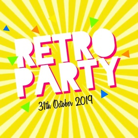 Retro Party Instagram Post template
