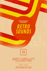 Retro Party Sounds Flyer Template