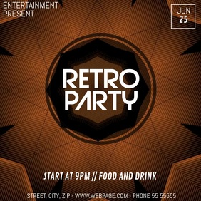 Retro party video flyer template