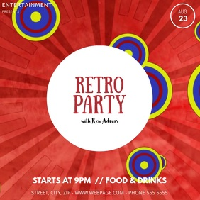 Retro party video template