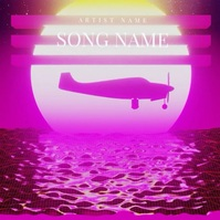 Retro Plane CD Album Cover Video Template Albumhoes