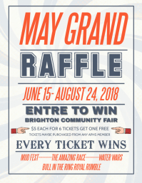 Retro Raffle Flyer Template