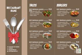 Retro restaurant menu - Trifold