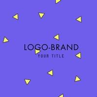 Retro Shapes Logo Video Design Logotyp template