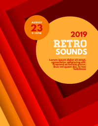 Retro Sounds Flyer Template