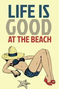 Retro Summer Vacation Poster
