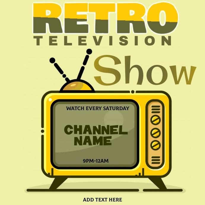 Retro Television Show Template Instagram-opslag