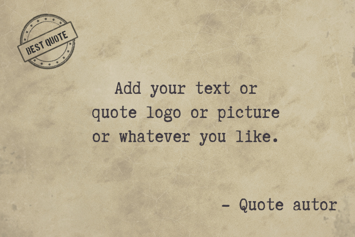 retro typwtriter quote old paper template