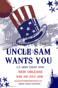 Retro Uncle Sam Poster