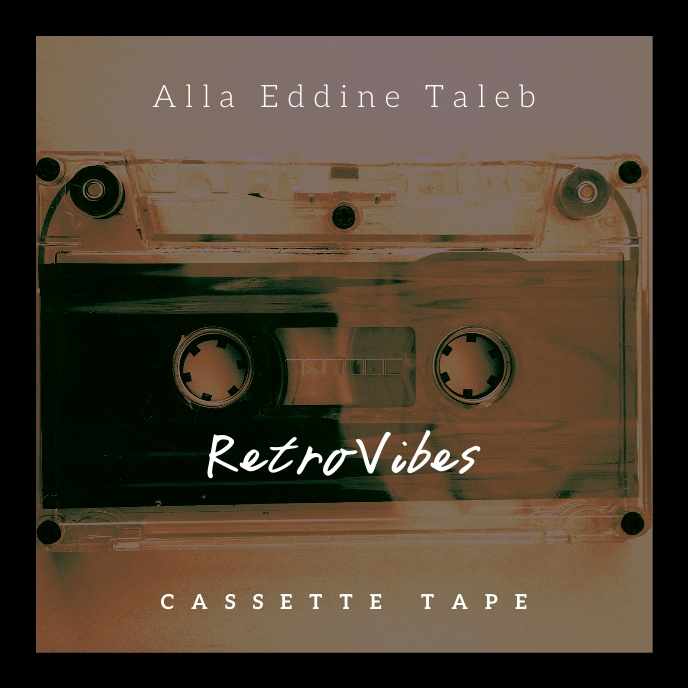 Retro Vibes Cassette CD Cover Music Albumcover template