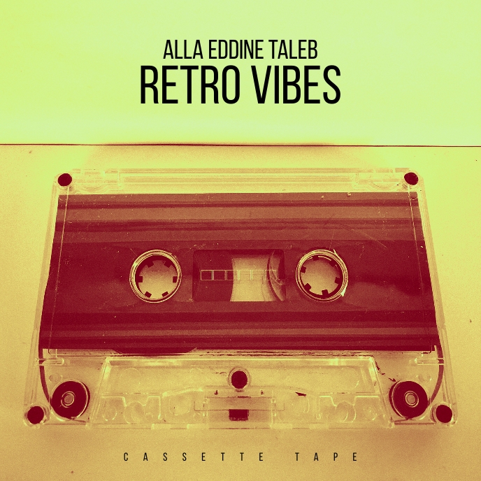 retro vibes Cassette tape Compact cd cover Albumcover template