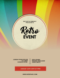 Retro Vintage Event Flyer Template