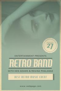 Retro vintage event flyer template