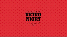 Retro Vintage Event Video promotion facebook cover template