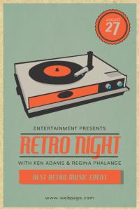 Customizable design templates for vintage party postermywall retro vintage event vinyl flyer template saigontimesfo