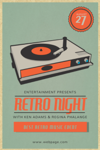 Retro Vintage Event Vinyl Flyer Template Poster
