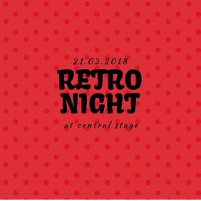 Retro Vintage Night event instagram promotion video template