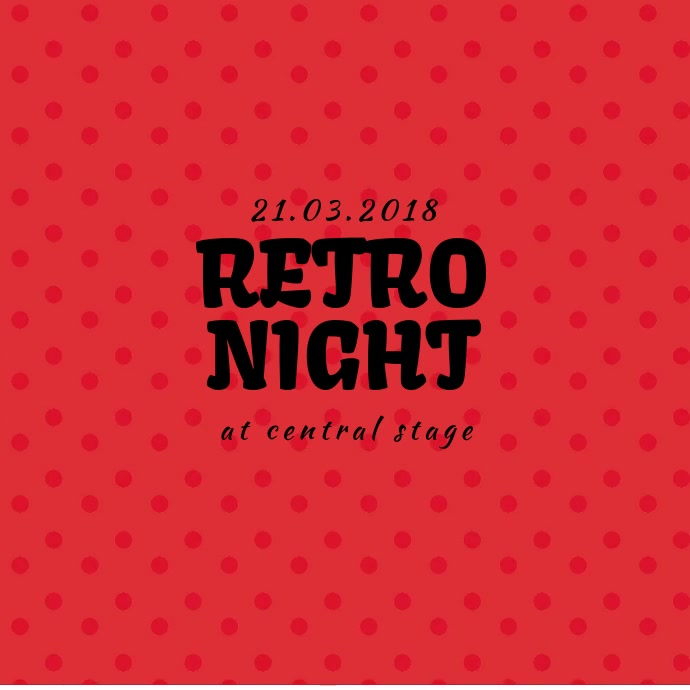Retro Vintage Night event instagram promotion video template