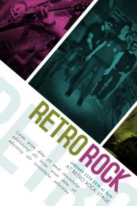 Retro Vintage Rock Band Concert Event Flyer Template