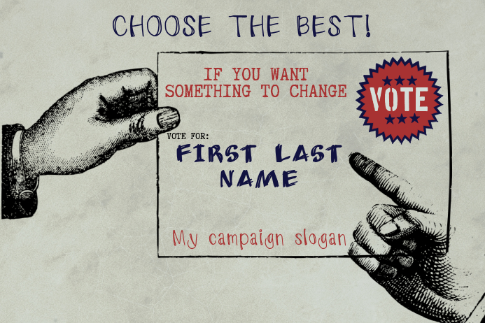 retro vintage voting campaign Template | PosterMyWall