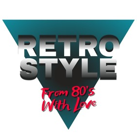 Retro Wave Logo 80's template