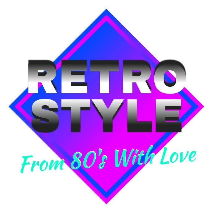 Retro Wave Logo 80's template