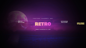 Retro Youtube Channel Art Banner template