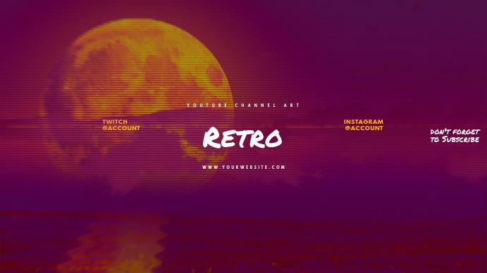 Retro Youtube Channel Art Banner