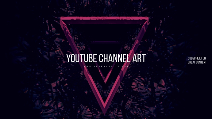 Retro Youtube Channel Art template