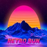 RetroSun Albumcover template