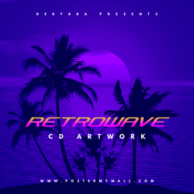 Retrowave CD Artwork Template