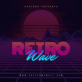 Retrowave CD Cover Template
