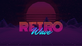 Retrowave Youtube Thumbnail