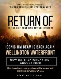 Return of Revival Concert Flyer