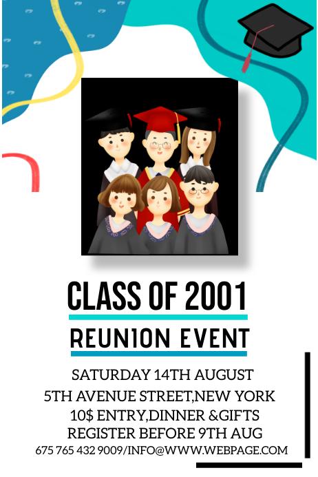 Reunion ceremony poster Plakat template