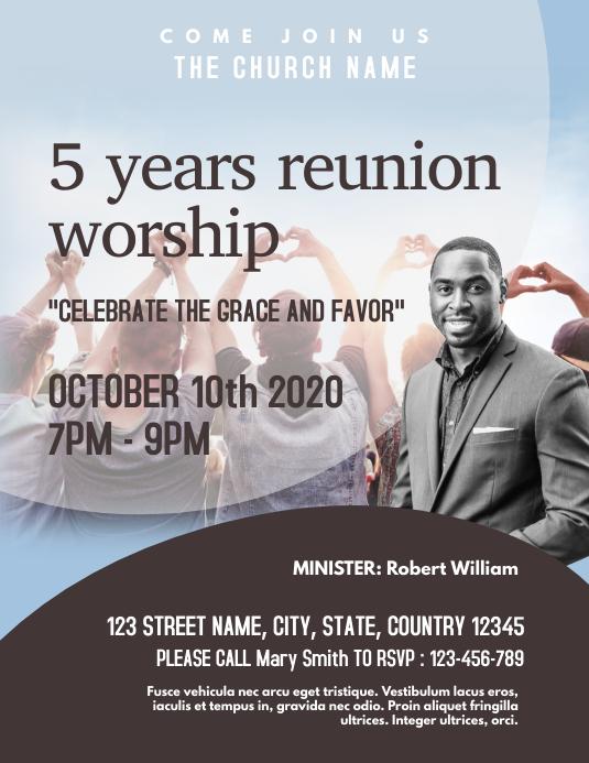 Reunion Church Event Flyer template